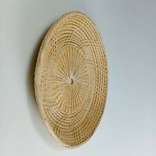 Wall Art rattan weave hand craft boho farmer round tray decor home natural