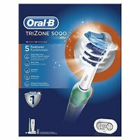 Braun Oral-B Tri-Zone 5000 Electric Rechargeable Power 3D Action Toothbrush New