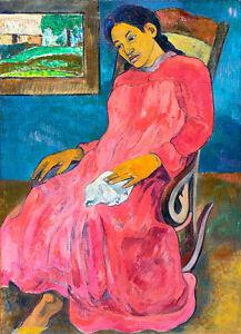 Faaturuma-Melancholic by Paul Gauguin 60cm x 43.4cm High Quality Art Print