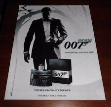 Mint Print Ad Poster James Bond 007 Dangerously Sophisticated Fragrance for Men