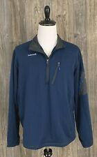 Avalanche 1/4 Zip Pullover Men's Xl Blue Textured Thumb Holes Fleece Lined
