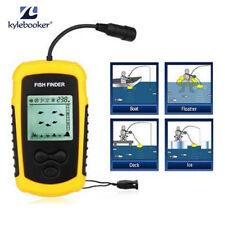 Portable Sonar Sensor Fish Finder Alarm 100M Depth Capturing Transducer