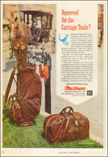 1963 vintage AD MacGregor Golf Bags ,  Kangaroo Leather Brunswick Sports 123117