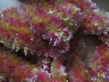 écharpe rose - jaune  fait main