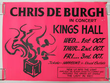 CHRIS DE BURGH Kings Hall BELFAST Northern Ireland 1986 CONCERT POSTER VG+