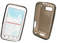 Silikon TPU Handy Cover Case Hülle Schale Schutzhülle in Smoke für Motorola Defy