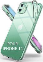 Housse étui pochette coque transparent gel silicone pour iphone 11