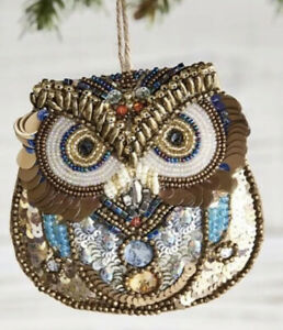 Pottery Barn Beaded Owl Ornament