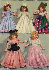 1943 ADVERT 4 PG Effanbee Dolls Bride Little Lady Snowsuit Twins Trunk COLOR
