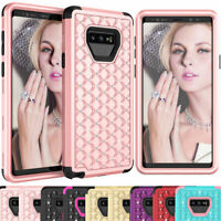 Crystal Diamond Bling Shockproof Phone Case Cover For Samsung Galaxy Note 9