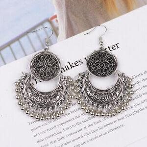 Vintage Women Bohemian Indian Gypsy Tassel Drop Dangle Earrings Wedding Jewelry