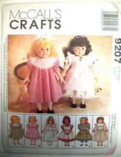 Doll clothes frilly dresses 1st communion bloomers panties pattern 9207 sz 18""