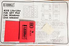 American Model Builders HO #315 Acrylic Glazing Windows Life-Like PROTO 2000 GP7