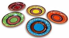 Terracotta Small Dinner Plates Set of 5 (European Size) - Hand Painted From Spai