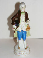 "Vintage Colonial Man 7.5"" Porcelain Figurine Occupied Japan HIGHMOUNT C13"