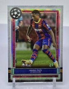 2020/21 Topps Museum Collection UEFA Soccer ANSU FATI #4 FC Barcelona *SHARP*
