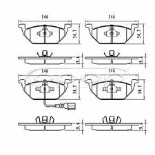 Bremsbelagsatz, Scheibenbremse, Vorderachse, Audi, Seat, Skoda, VW, BB08001