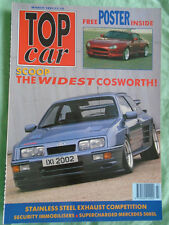Top Car Mar 1992 wide Sierra RS Cosworth, Mercedes 500SL supercharged