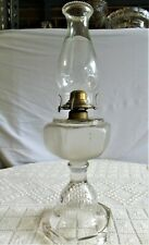 Very Rare Eapg Early Oil Lamp Frosted Oil Font Bubble Design In Base