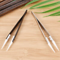 Ceramic Tipped Stainless Steel Tweezers Fine Pointed Tip Heat Resistant Tk ga