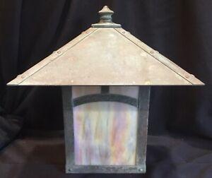 Big Vintage Outdoor Arroyo Craftsman Arts & Crafts Style Light Fixture Sconce B