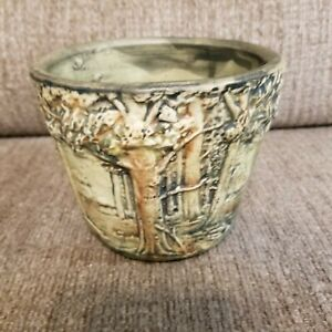 WELLER POTTERY FOREST JARDINIERE PLANTER FLOWER POT