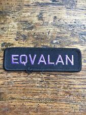 """Vtg Eqvalan 4"""" Embroidered Sew On Patch Badge Canada Equestrian Horse Farm"""