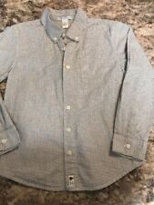 BOYS, JANIE AND JACK, SIZE 8, LONG SLEEVE COTTON SHIRT