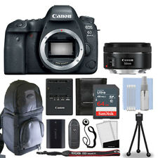 Canon EOS 6D MARK II DSLR Camera + 50mm F/1.8 STM Lens + 64GB & More Kit NEW