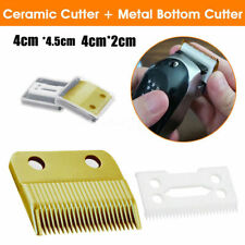 2 Hair Replacement Ceramic Blade Cutter + Metal Bottom For Wahl Shear Clipper