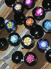 """Thai Hand Carved Soap Flower Scented in 2"""" Hand painted Decorated Box Lot 10 Pcs"""