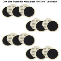 20x Bicycle Bike Self-Adhesive Glueless Inner Tube Tyre Tire Rubber Repair Patch