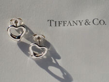 Tiffany & Co Elsa Peretti Open Heart Sterling Silver Earrings