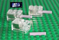LEGO TECHNIC AXLE + CUSTOM BRIGHT WHITE LED 2X3 LIGHT BRICK NEW