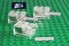 LEGO TECHNIC AXLE + CUSTOM BRIGHT WHITE LED 2X3 LIGHT BRICK NEW