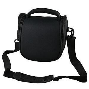 Black Camera Case Bag for CANON SX400 SX410 SX420 SX500 IS SX510 Bridge Camera