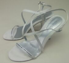 Nine West High Heel White Shoes 8-1/2 M for Wedding and Special Events