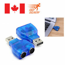 USB Male To Dual PS2 PS/2 Female Mouse Keyboard Splitter Converter Adapter