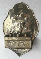 RARE ARTS & CRAFTS BRASS WALL SCOUNCE REPOSSE OF AEOLUS GOD OF WIND & DRAWER