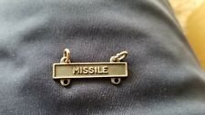 Us Army Missile Qualification Bar; Black and Silver B23