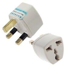 New 2x Portable US AU EU Europe to UK Power Socket Plug Adapter Travel Converter