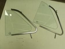 Fiat 500 F L R Vent Window Frame Glass trim Set of 2 vintage microcar