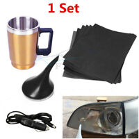 Car Headlight Lens Repair/Restoration Kit Atomized Cup +6Pcs Polishing Sandpaper