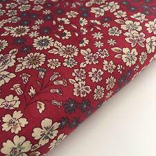 Frou Frou Cotton Lawn Fabric - Fleuri 21 Rouge Floral