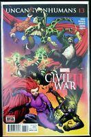 The UNCANNY INHUMANS #13 Civil War II (2016 Marvel Comics) ~ VF/NM Comic Book