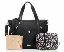 Storksak Cleo + Mini-Fix Changing Nappy Diaper Bag - Black