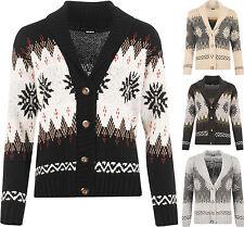 Damen-Strickjacken aus Acryl mit Norweger-Muster