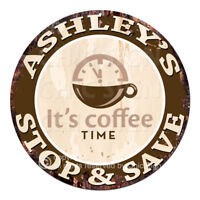 CWSS-0063 ASHLEY'S STOP&SAVE Coffee Sign Birthday Mother's Day Gift Ideas