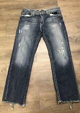 Big Star Mens Pioneer Boot Cut Distressed Jeans Size 34 X 31