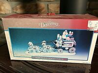 NEW NIB 1990s Lemax Dickensvale Porcelain Christmas Village STAGECOACH  CS7-1